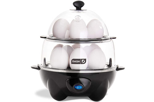 Dash DEC012BK Deluxe Rapid Electric Egg Boiler with Auto Shut Off