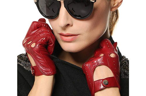 Elma Tradional Women's Italian Nappa Leather Gloves Motorcycle Driving