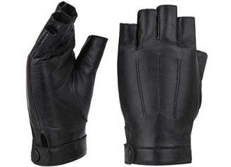 Fingerless Leather Gloves for Women
