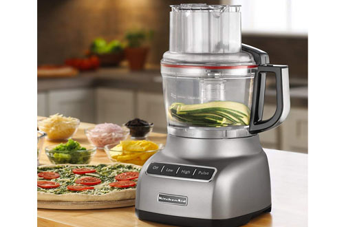 KitchenAid KFP0922CU 9-Cup Contour Silver Mini Food Processor