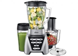 Oster Pro 1200 Blender with Glass Smoothie Cup & Food Processor