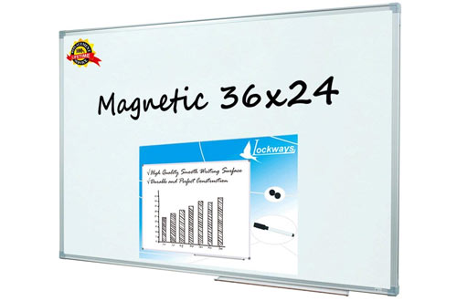 Lockways Magnetic Dry Erase Whiteboard for School or Office