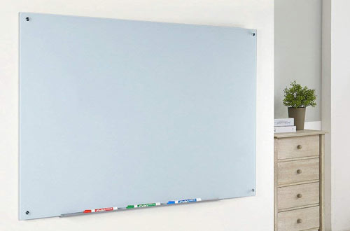 Magnetic Glass Dry-Erase Board Set with Aluminum Marker Tray