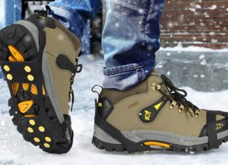 EONPOW Ice & Snow Grips Cleat Over Shoe & Boot Traction Cleat