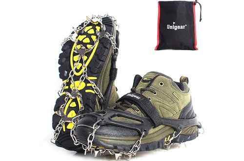 Unigear Traction Cleats Ice Snow Gripsfor Walking, Climbing and Hiking