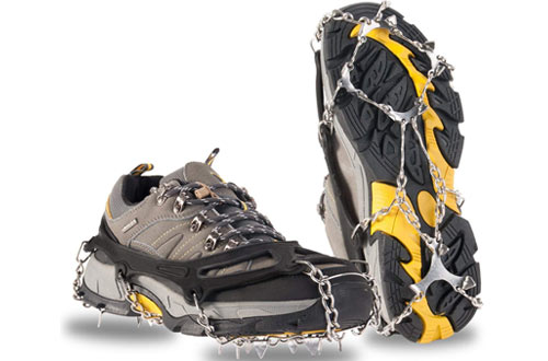 OuterStar Traction Cleats Ice Snow Grips Anti Slip Stainless Steel Spikes Crampons for Footwear