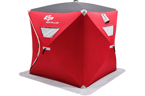 Goplus 2-Person Ice Shelter Portable Pop-up Ice Fishing Tent