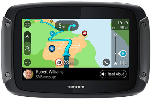 TomTom 1GF0.047.00 Rider 550 Motorcycle GPS Navigation Device with Built-in Wi-Fi