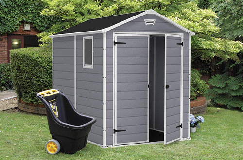 Keter Manor Large Resin Outdoor Backyard Garden Storage Shed