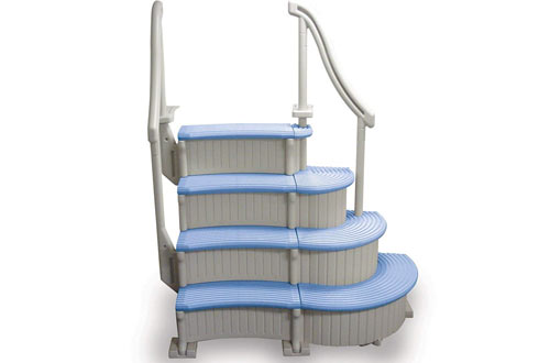 Confer Curve Above Ground Swimming Pool Steps with Treads