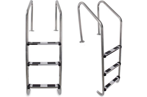ARKSEN in-Ground Heavy-Duty Swimming Pool Ladder