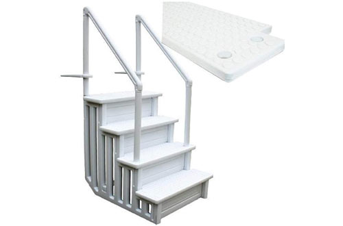 Generic32-Inch Above Ground Swimming Pool Ladder with Handle