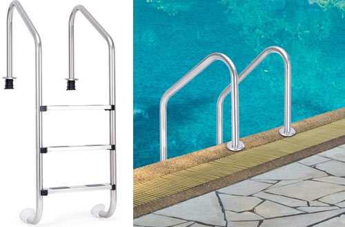 Goplus Heavy-Duty Swimming Pool Ladder for Inground Pools