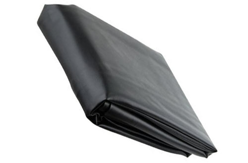 Black Leatherette Pool Table Cover - 9 Foot Billiard Table Cover