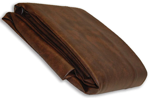 YvesEmpire USA Deluxe Dark Brown Leatherette Pool Table Cover