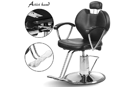 ARTIST HAND Hydraulic Reclining Barber Chair Spa Equipment