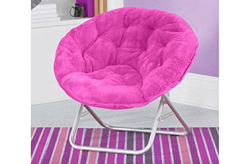 Very Comfortable Mainstays Faux-Fur Saucer Chair
