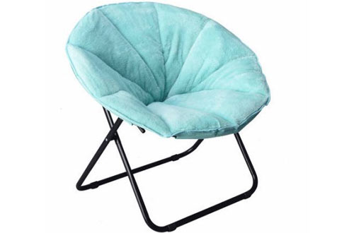Mainstay Comfortable Faux Fur Plush Folding Saucer Chair