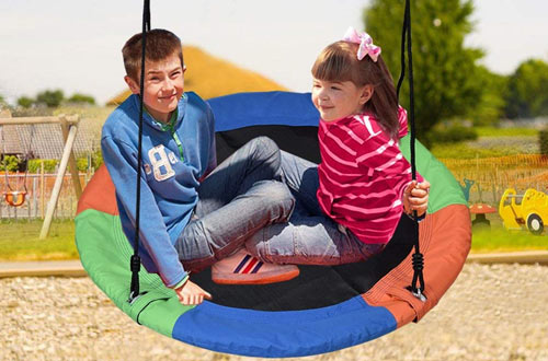 Extra Large Tree Swing - Children's Colorful Swing