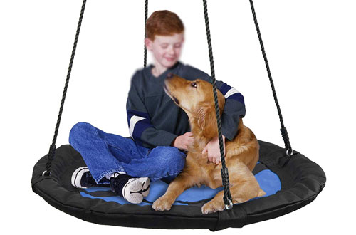 SUPER DEAL 40-Inch Waterproof Saucer Tree Swing Set for Adults