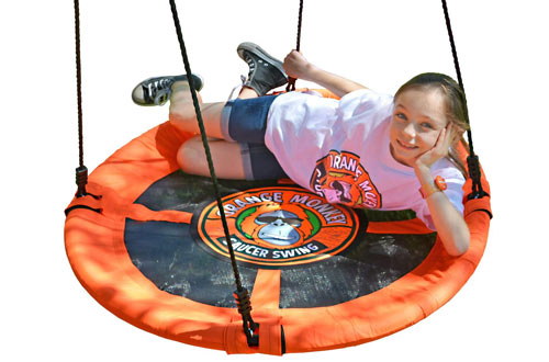 Orange Monkey Round Outdoor Tree Swing for Kids