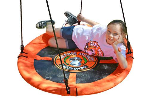 Orange MonkeyRound Outdoor Tree Swing for Kids