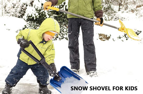 ELIVERN Folding Compact Snow Shovel with Comfortable D-Grip Handle