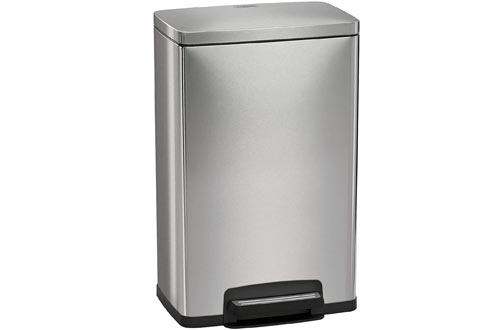 Top 10 Best Stainless Steel Trash Cans For Kitchen Reviews In 2019