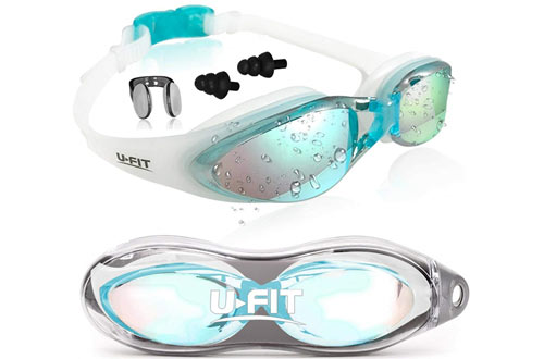 U-FIT Swimming Goggles with Free Goggle Case