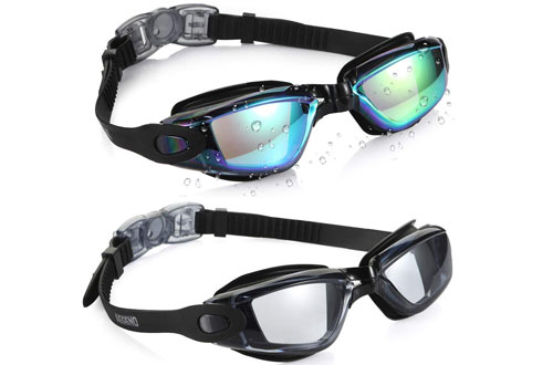 UV Protection Crystal Clear Vision Triathlon Swim Goggles