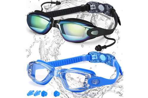 COOLOO Swimming Goggles for Adults, Men, Women  &Youth Kids