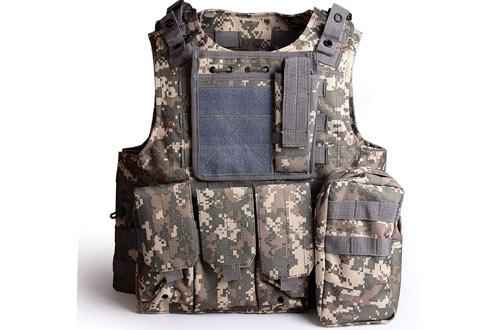 Solomone Cavalli Tactical Molle Combat Vest Airsoft Camouflage Police