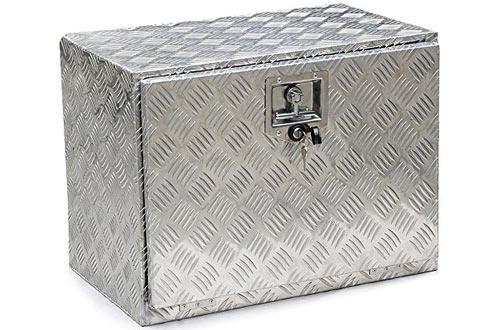 Yaheetech Aluminum Truck Trailer Pickup Tool Storage Box with Lock