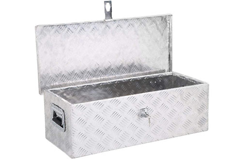 Yaheetech Aluminum Tool Box with Lock Pickup Truck Bed Storage