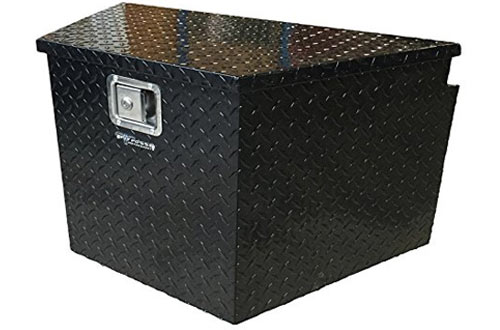Pit Posse PP3281BK Aluminum Trailer Tongue Storage Tool Box