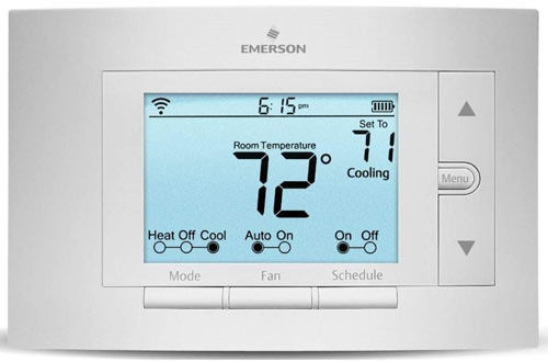 Emerson Thermostats Sensi Smart Thermostat, Wi-Fi, UP500W, Works With Alexa