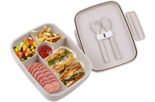 BRIGENIUS Leakproof Bento Lunch Box for Kids and Adults