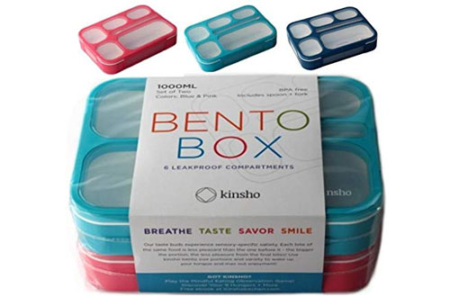 KinshoBento Box Lunchbox Containers for Kids & Adult