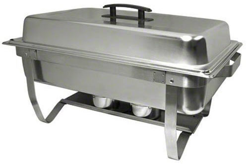 Update International ESFC-21 Mirror Polish Chafer with Folding Stand