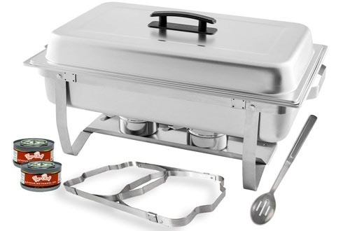 TigerChef Stainless Steel Chafer with Chafing Gels & Serving Spoon