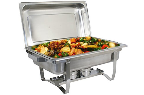 ZENY Chafing Dish & Chafing Fuel Holder Catering Buffet Warmer Set