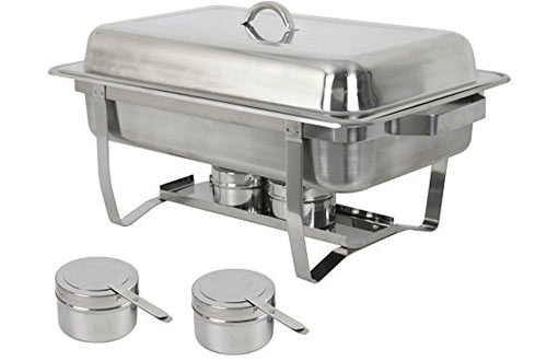 ZenChef Full-Size Steel Chafer & Chafing Dish with Pan & Lid