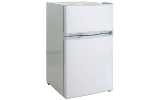 RCA-Igloo 3.2 Cubic White Small Fridge and Freezer with Doors