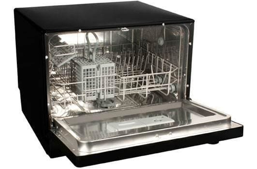 Koldfront 6-Place Setting Portable Countertop Dishwasher - Black