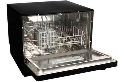 Koldfront 6-Place Setting Portable Countertop Dishwasher - Black
