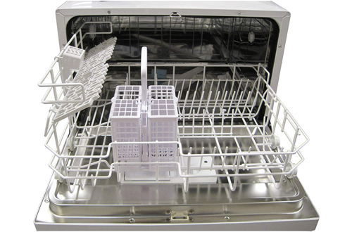 SPT Silver Countertop Dishwasher