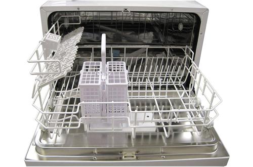 SPT Silver Countertop Dishwasher