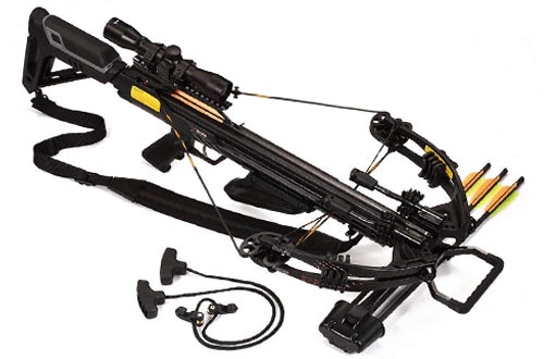 Bruin Ambush 370 Crossbow with Scope, Bolts, Quiver and Cocking Rope
