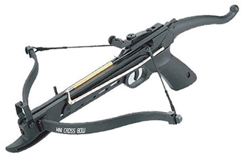 SAS Self-cocking Pistol Crossbow with Bolts and Extra String