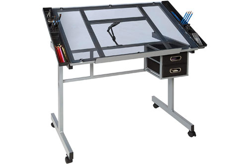 OneSpace Craft Station Blue Architectural Drafting Table